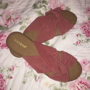 Bamboo Sandals in Mauve